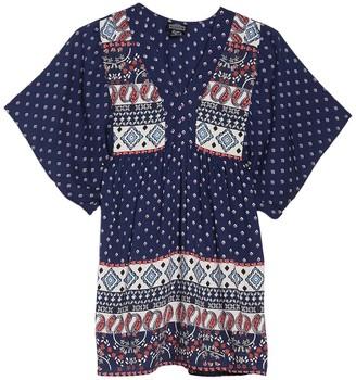 Angie Printed Babydoll Dress