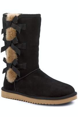 Koolaburra By Ugg Victoria Tall Genuine Dyed Shearling Trim & Faux Fur Boot (Women's)
