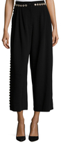 Dolce & Gabbana Back Bow Embellished Crop Pant