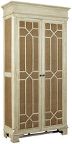 One Kings Lane Burlap 90 Armoire, Aged Ivory