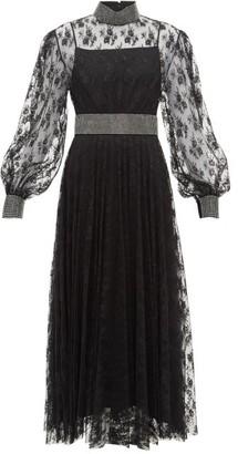 Christopher Kane Crystal-embellished Floral-lace Dress - Black