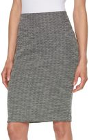 Elle Women's ELLETM Jacquard Pencil Skirt