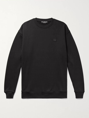 Acne Studios Forba Oversized Logo-Appliqued Loopback Cotton-Jersey Sweatshirt