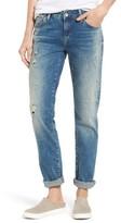 Mavi Jeans Women's Emma Ripped Patch Slim Boyfriend Jeans