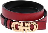 Salvatore Ferragamo 20mm Reversible Saffiano Leather Belt