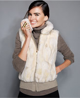 The Fur Vault Pieced Rabbit Fur Vest