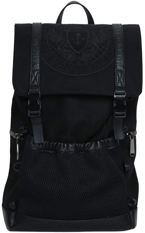 Balmain Climb Leather-trimmed Nylon Backpack
