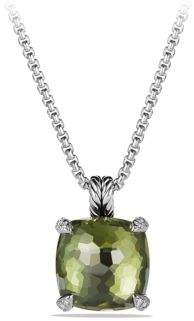 David Yurman Châtelaine Pendant Necklace with Green Orchid and Diamonds