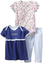 Rene Rofe Baby Newborn Girls Flowers 3 Piece Pant Set