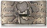 Loeffler Randall Tab Python Embossed Leather Clutch