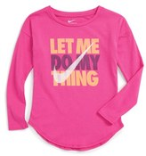 Nike Toddler Girl's Let Me Do My Thing Graphic Tee