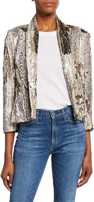 Le Superbe Morrisons Sequined Snake-Print Jacket
