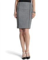 White House Houndstooth Pencil Skirt