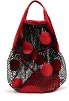 Maison Margiela Polka-dot fishnet shoulder bag