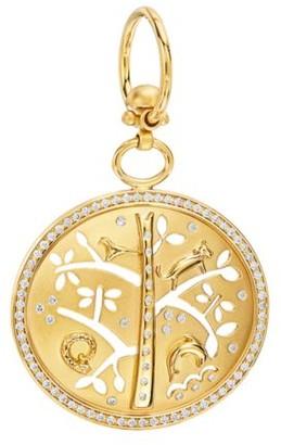 Temple St. Clair Tree of Life Diamond & 18K Yellow Gold Small Pendant