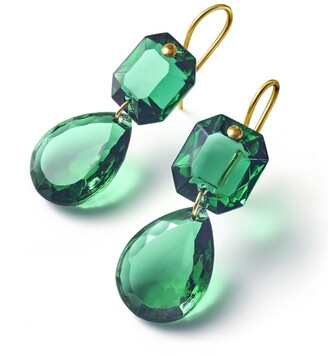 Baccarat Crystal Drops Of Colour Earrings