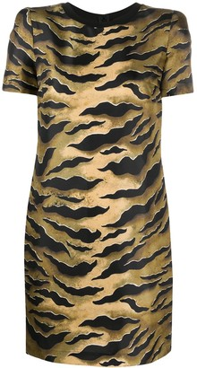 DSQUARED2 Tiger-Print Shift Dress