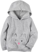 Carter's Girls 4-8 3D Cat Hoodie