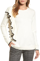 Halogen Asymmetrical Ruffle Sweater (Regular & Petite)