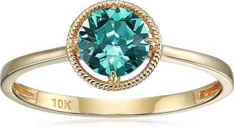 Amazon Collection 10k Gold Swarovski Crystal December Birthstone Ring Size 8