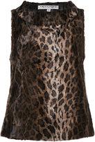 Trina Turk leopard print blouse