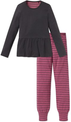 Schiesser Girl's Rebel Madchen Anzug Lang Pyjama Sets
