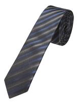 Oxford Silk Tie Blrrd Strps Blk/Nvy/Blu X