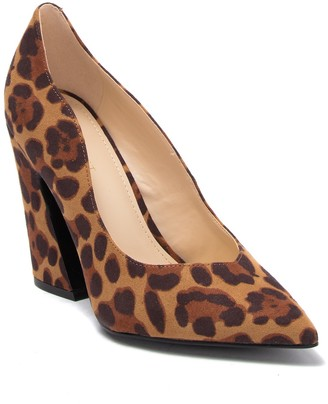 Nine West Havana Leopard Print Pointed Toe Pump