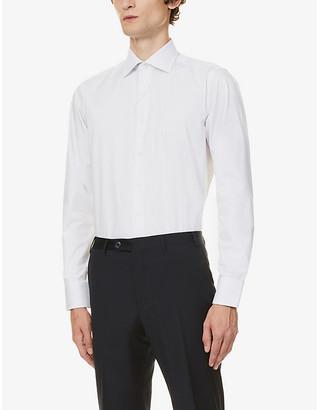 Canali Modern-fit cotton-poplin shirt