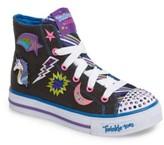 Skechers Girl's Twinkle Toes Shuffles Light-Up High Top Sneaker