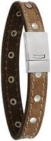 Smokey Milton Studded Vintage Effect Leather Bracelet by Duncan Walton