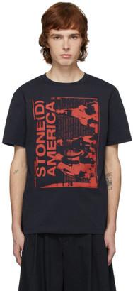 Raf Simons Navy Stoned America T-Shirt