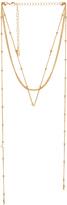 Ettika Dainty Wrap Necklace in Metallic Gold.