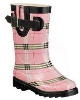 Kids' Pinky Plaid Rain Boots - Pink