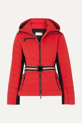 Erin Snow Kat Hooded Belted Jacket - Red