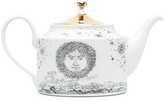 Fornasetti Solitario hand painted teapot