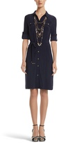 White House Black Market Navy Shirt Dress