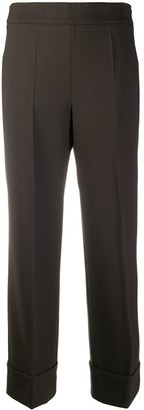 Incotex High-Rise Straight Leg Trousers