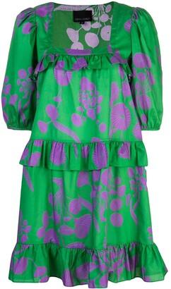 Cynthia Rowley Kuaii Ruffle Swing Dress