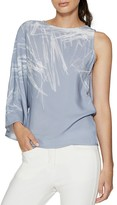 Halston One-Sleeve Top