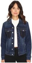 7 For All Mankind Denim Jacket w/ Shadow Pockets in Medium Shadow Blue