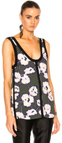 Marni Printed Tank in Floral,Green.