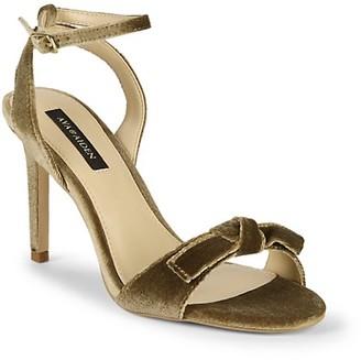 Ava & Aiden Charlee Velvet Bow High-Heel Ankle-Strap Sandals