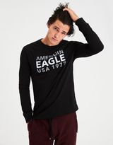 American Eagle Outfitters AE Long Sleeve Raglan Graphic Tee