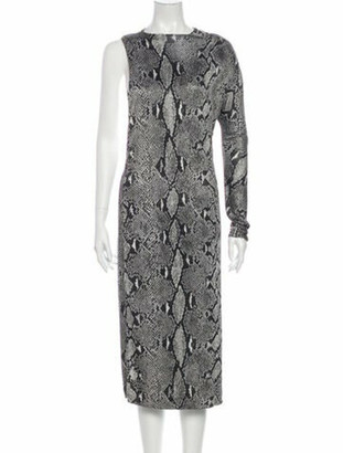 Gucci Animal Print Midi Length Dress w/ Tags Grey