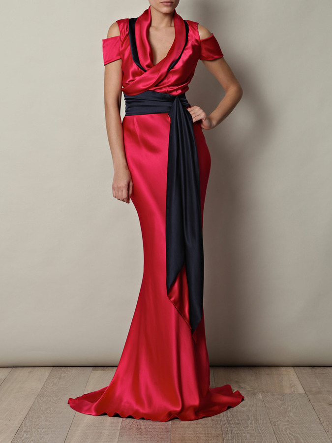Sophie Theallet Double-crepe satin gown