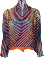 Issey Miyake open front cropped jacket - women - Polyester - 2