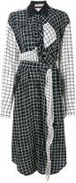 Preen Line grid print shirt dress