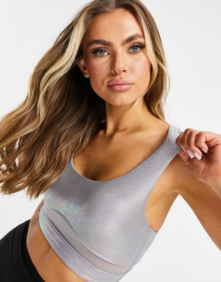 Lorna Jane gloss bra in grey
