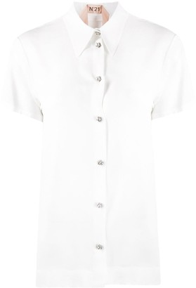 No.21 Embellished Star Button Polo Shirt